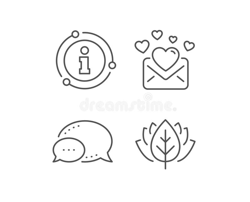 Love Mail line icon. Valentines Message correspondence sign. Vector. Love Mail line icon. Chat bubble, info sign elements. Valentines Message correspondence sign royalty free illustration