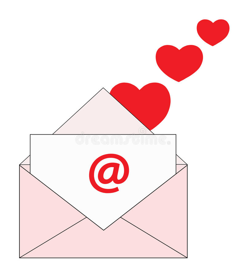 Download Love by mail stock vector. Image of pink, sender, mail - 49667757