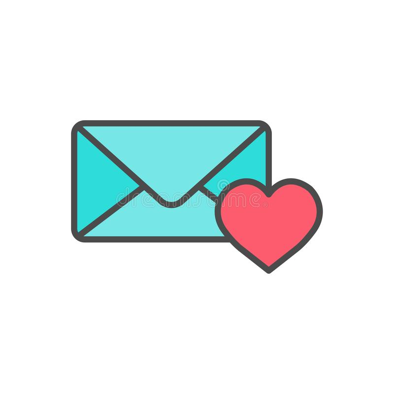 Love mail vector icon sign symbol royalty free illustration