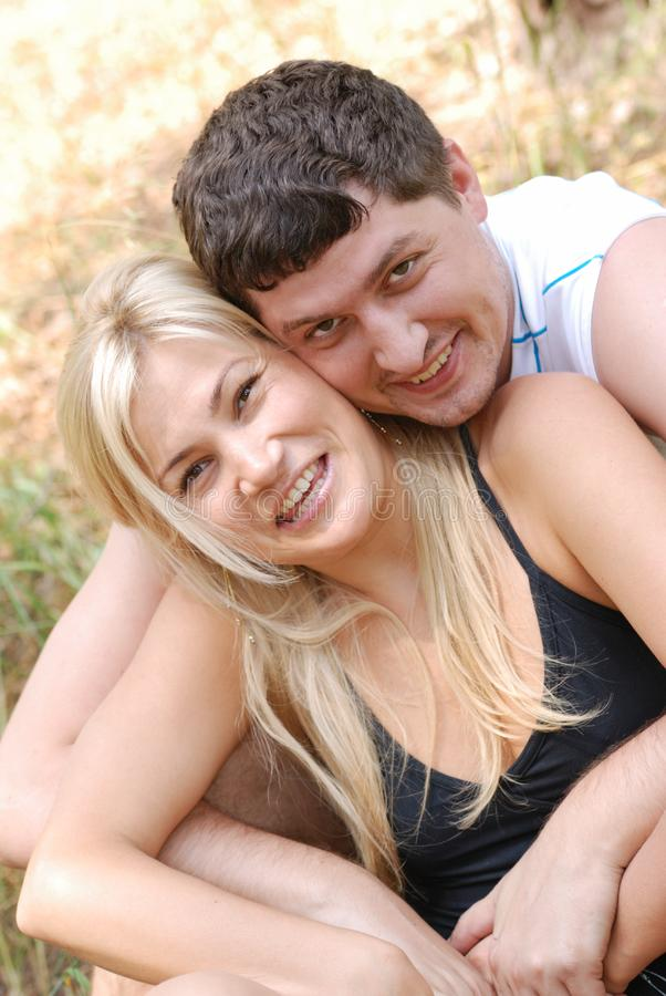 Love man and girl royalty free stock photography