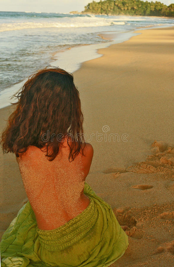 Love melancholy at the sunset royalty free stock images