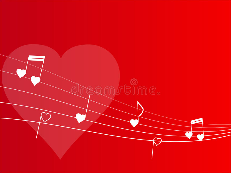 Download Love melody background stock vector. Image of harmonic - 4181917