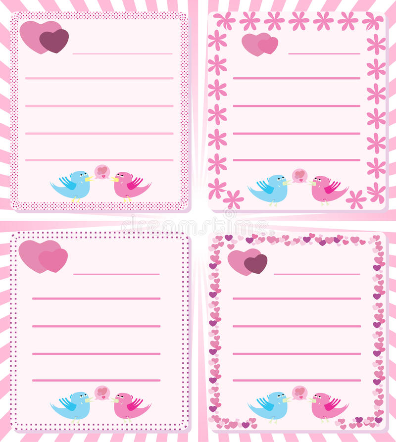 Love message birds tweet royalty free illustration