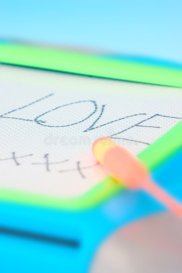 Download Love Message On The Board Stock Photos - Image: 14243