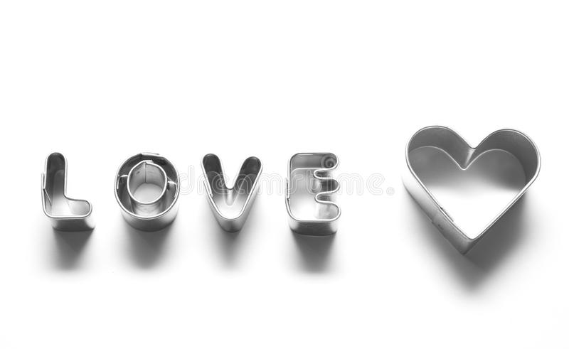 Love Message, Chrome Letters Stock Photos