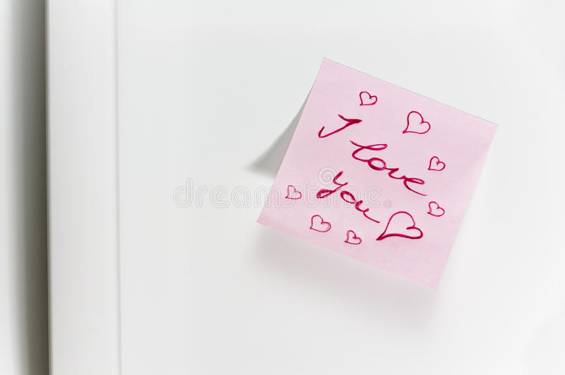 Download Love message on fridge stock photo. Image of intimate - 24877038