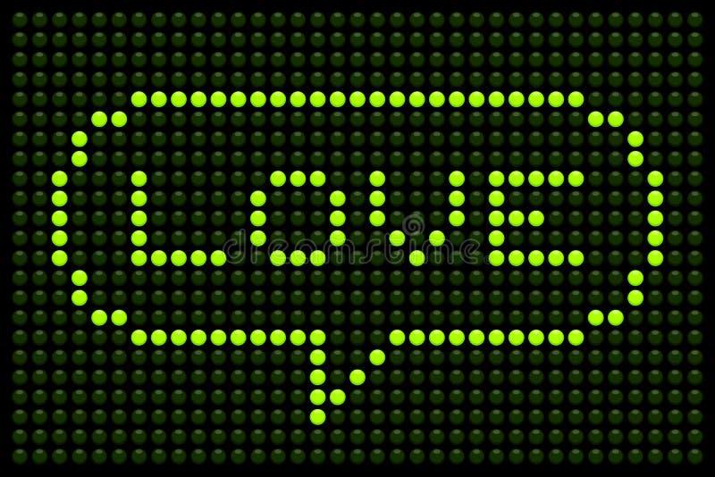 Love Message on LED Dot Matrix Display royalty free illustration