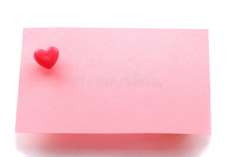 Download Love Message Note Paper Royalty Free Stock Photography - Image: 7061987