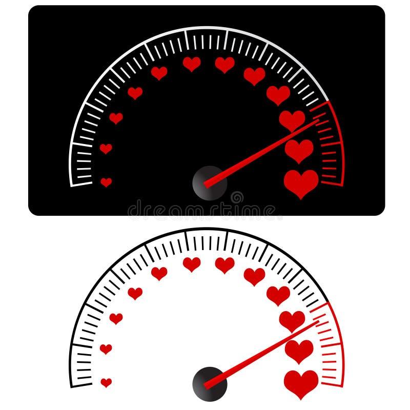 Download Love meter vector stock vector. Illustration of pointer - 7854952