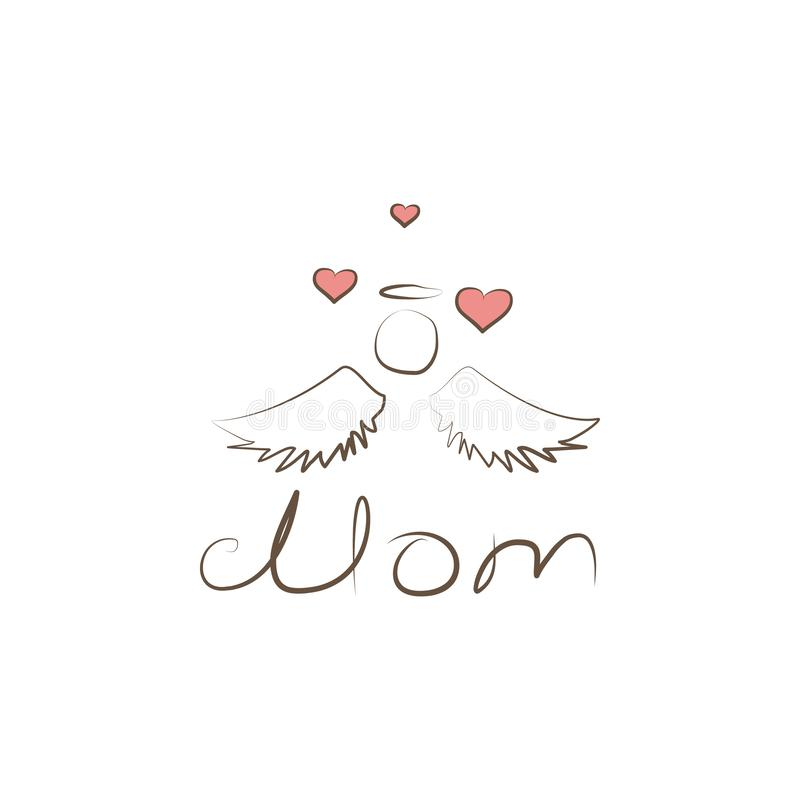 Love mom icon. Element of mother day icon for mobile concept and web apps. Colored Love mom icon can be used for web and mobile. On white background vector illustration