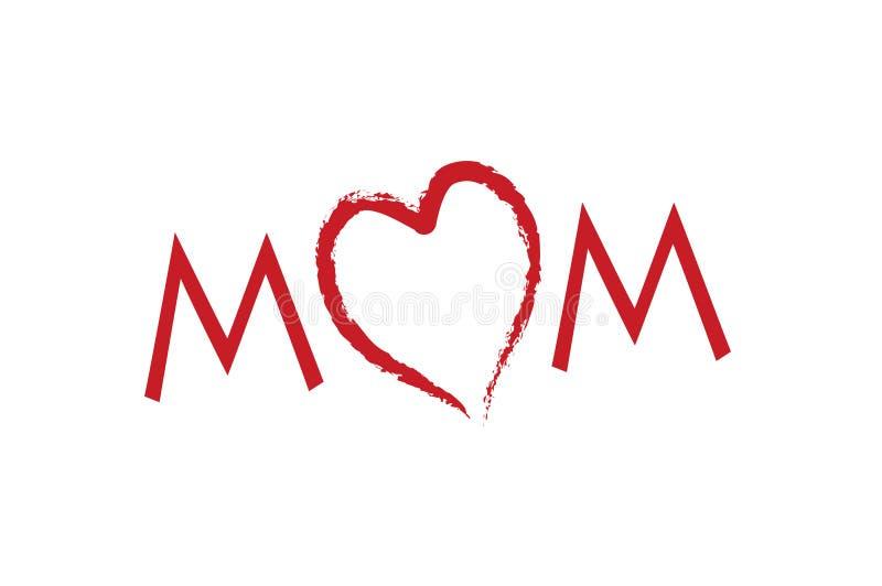 Love mom mother's day stock illustration