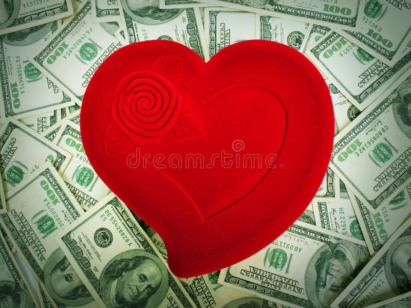 Love and Money stock image