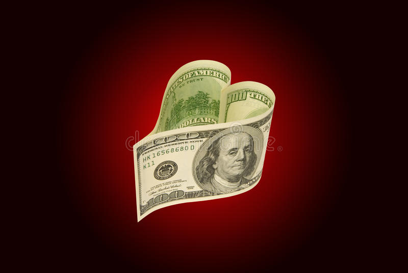Love and money stock photography