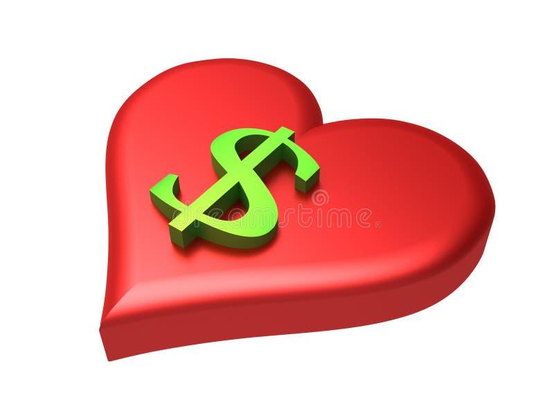 Love Money royalty free illustration