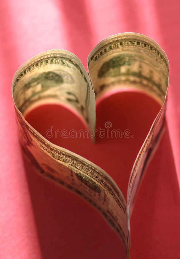 Love of Money royalty free stock image