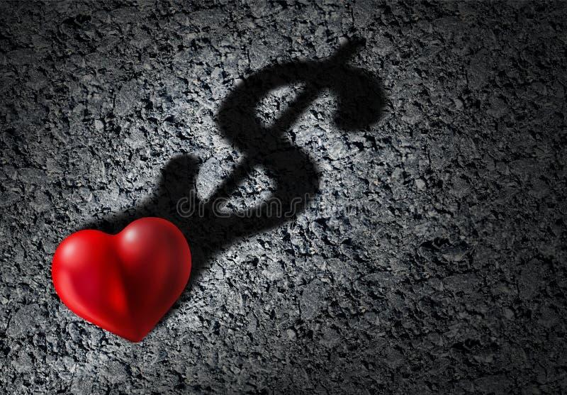 Love And Money stock illustration