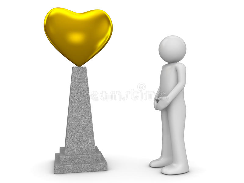 Love monument and man