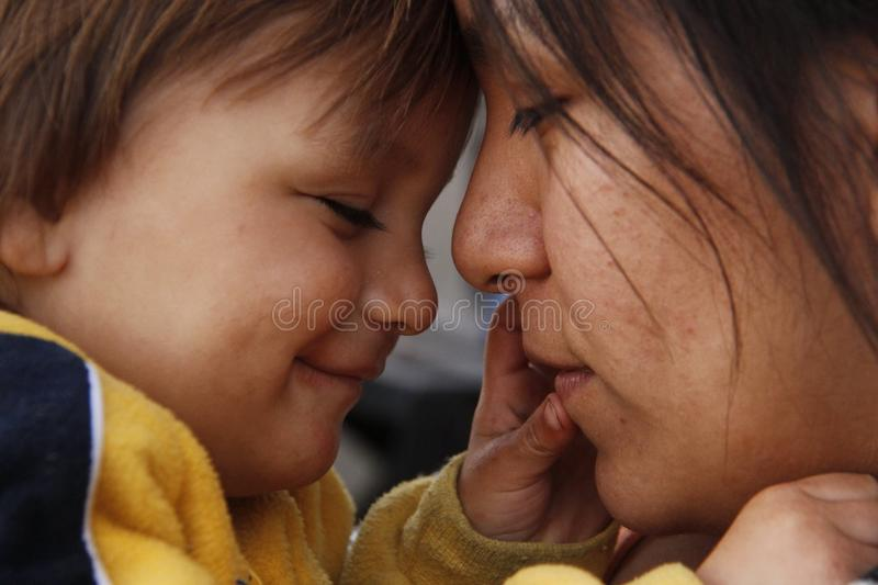 Love between mother and child royalty free stock image
