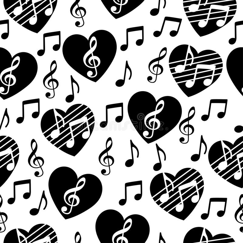 Love for music, musical abstract vector background, seamless pattern. vector illustration