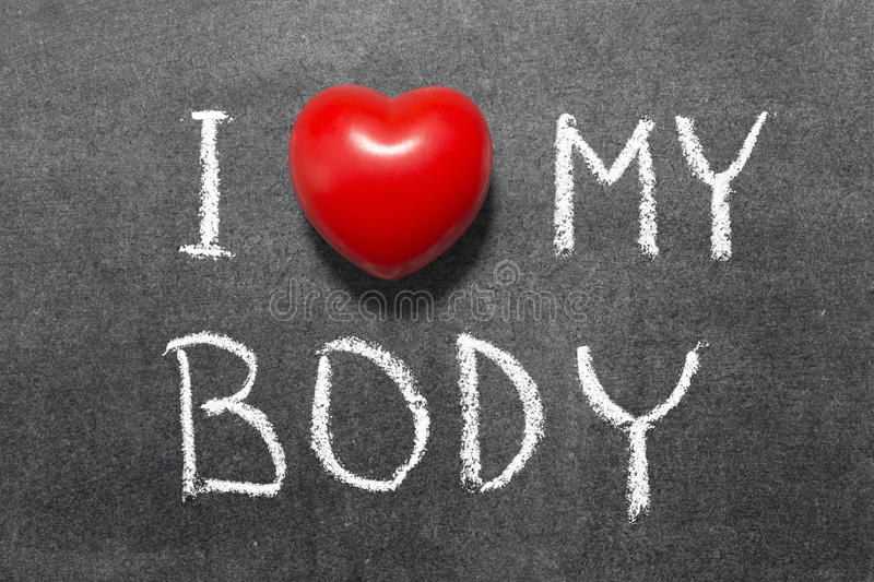 Love my body royalty free stock images