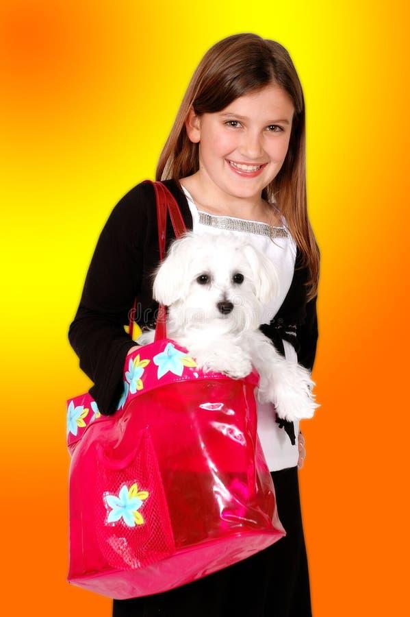 Love my dog! stock photo