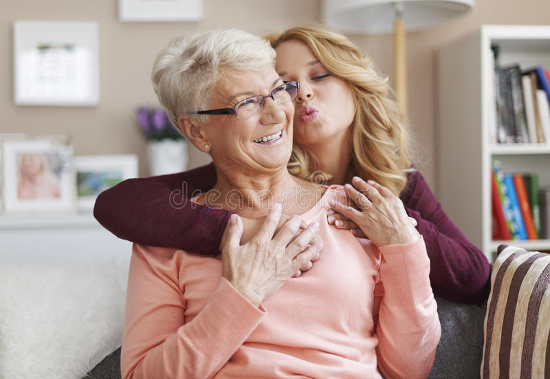 Love my grandma royalty free stock image
