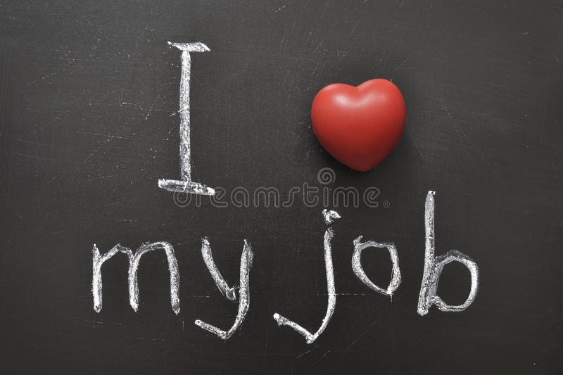 Love My Job Royalty Free Stock Images