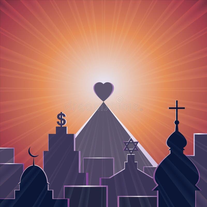 Love is my religion stock photos