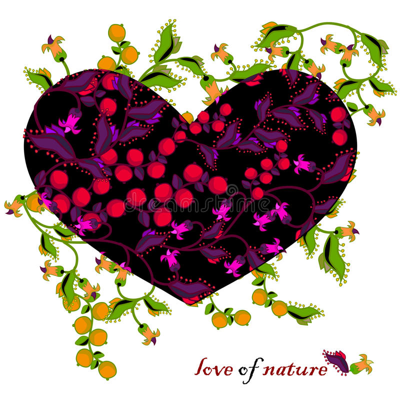 Love of nature stock illustration