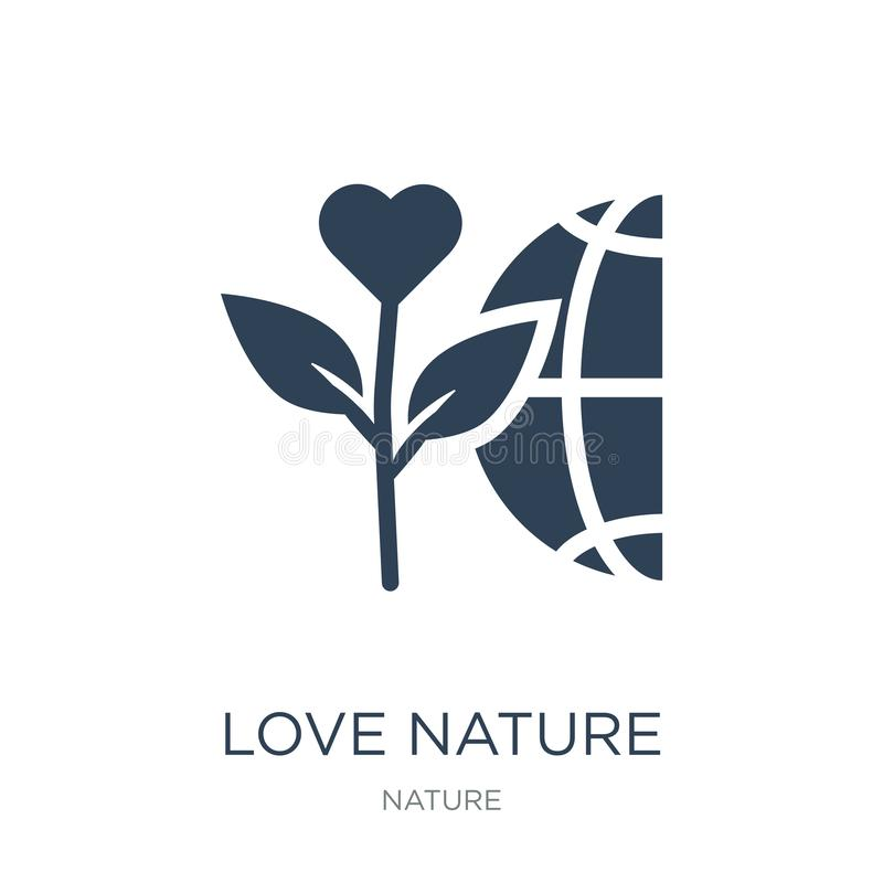 love nature icon in trendy design style. love nature icon isolated on white background. love nature vector icon simple and modern vector illustration