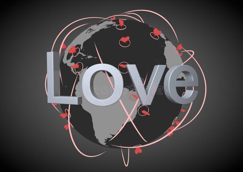 Love network vector illustration