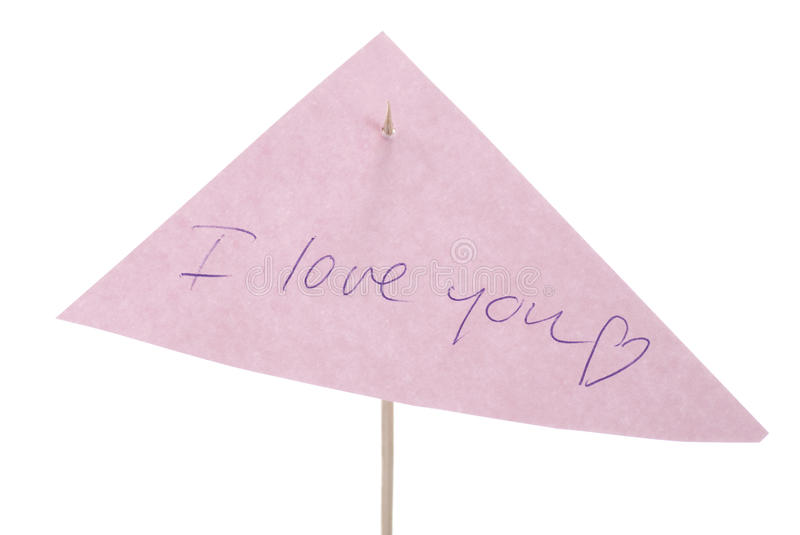 Download Love Note stock image. Image of white, note, nobody, message - 11592763