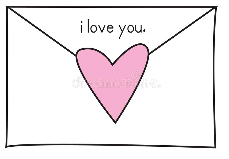 Love Note 2 royalty free stock photos