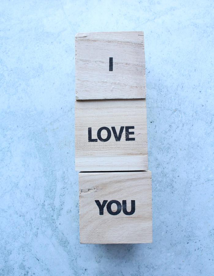 Love note on cubes stock images