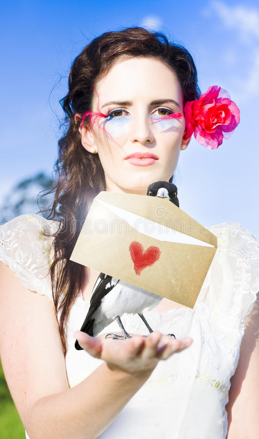 Love Note Delivery From The Heart Royalty Free Stock Photo