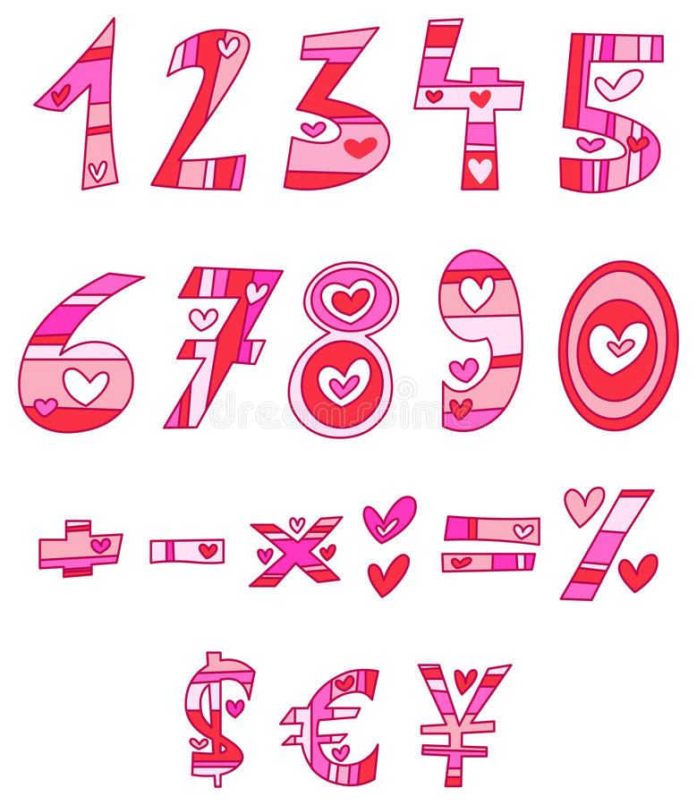 Love Numbers Royalty Free Stock Images