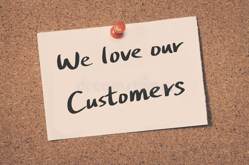 We love our customers stock photo