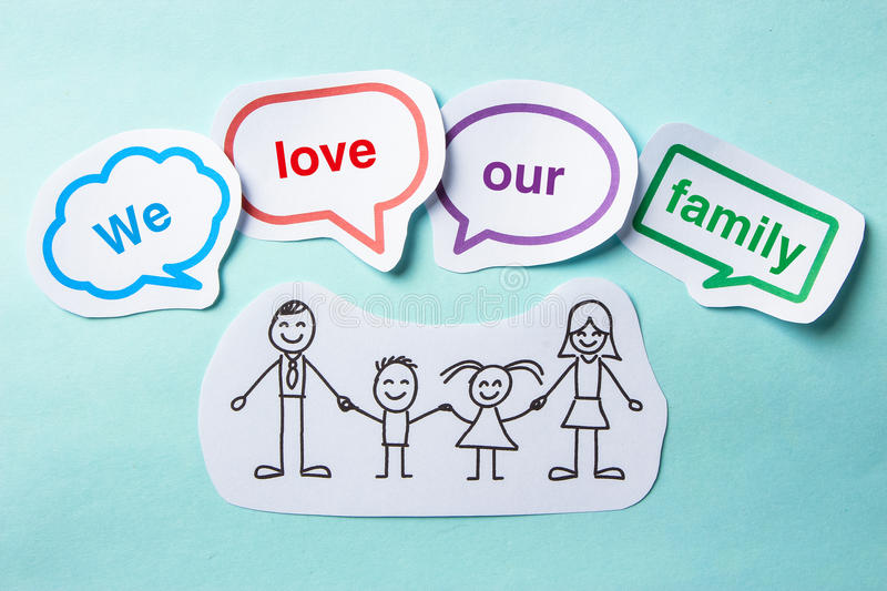 We love our family stock photo