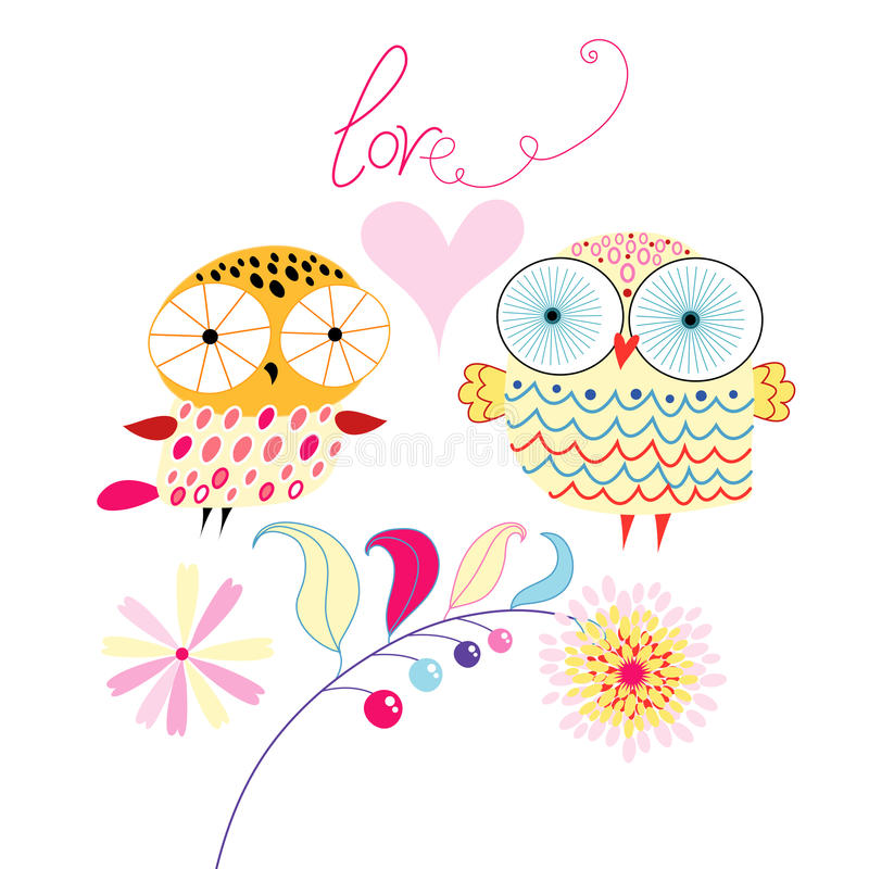 Love owls royalty free illustration