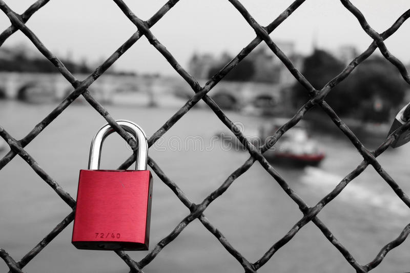 Love padlock royalty free stock photography
