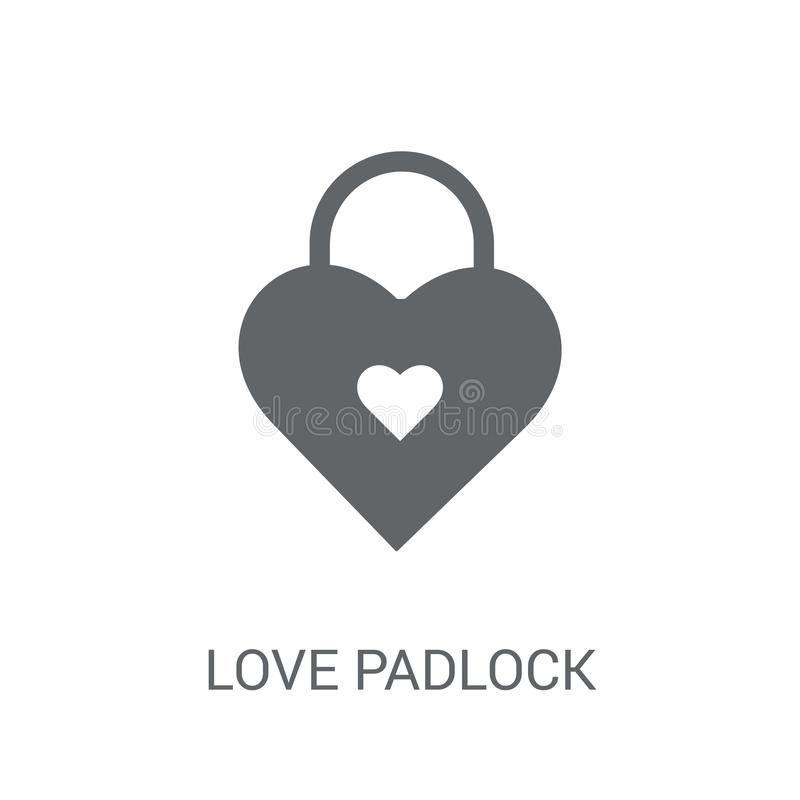 Free Love Padlock Icon. Trendy Love Padlock Logo Concept On White Background From Birthday Party And Wedding Collection Royalty Free Stock Photo - 131186675