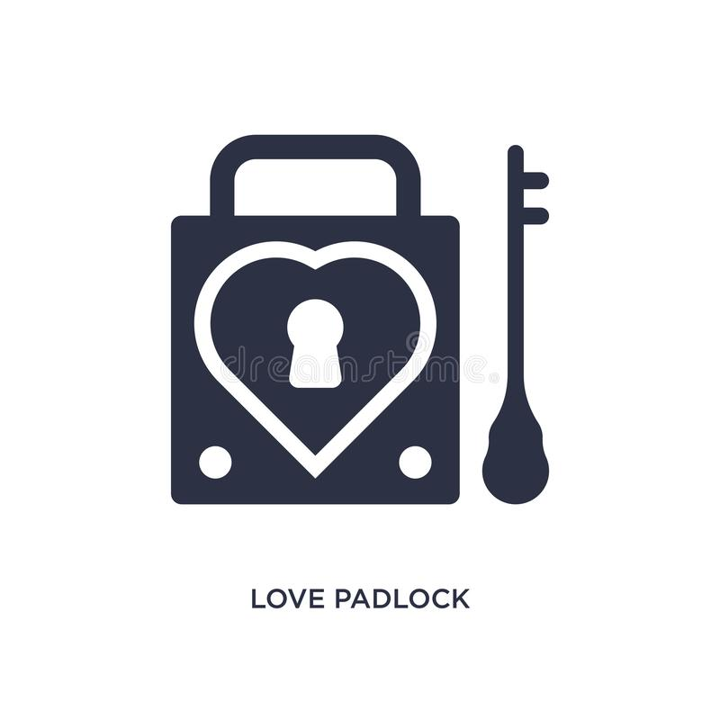 love padlock icon on white background. Simple element illustration from birthday party and wedding concept royalty free illustration