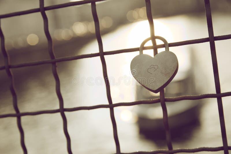 Love padlock view stock images