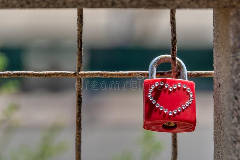 Padlock with Heart Symbol royalty free stock images