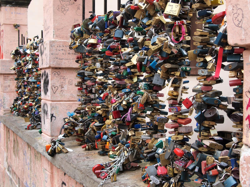 Love Padlocks Royalty Free Stock Images