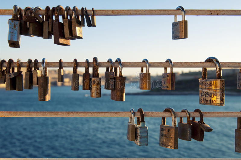 Love Padlocks invade the world royalty free stock images