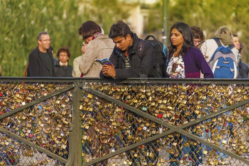 Download Love Padlocks On Paris Bridge Editorial Stock Photo - Image: 37058323
