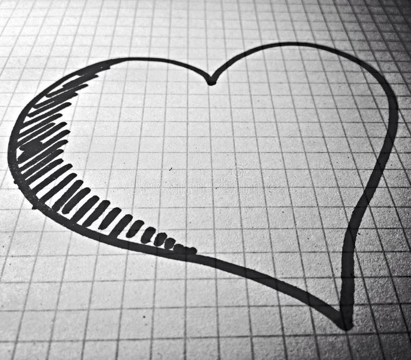 Love on paper stock image