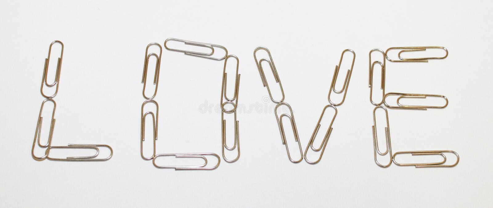 Download Love with paperclips stock image. Image of paperclips - 13480213