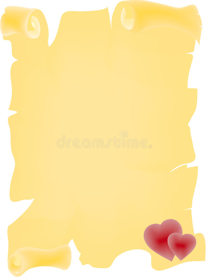 Download Love Parchment stock illustration. Image of born, aged - 7330097